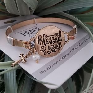 NWT brand new Tarnished gold cross braclet